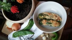 Chili Rellenos (Stuffed Green Chilis) Complete meal plan!