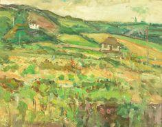 Zygmunt SCHRETER (Szreter),Pejzaż , olej, płyta, 50,5 x 62 cm