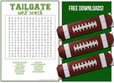 Printables & Spelling practice with Football word search   ~ HowToHomeschoolMyChild.com