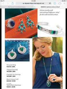 Electric jewelry with international influences, ideal for the well-traveled women. Mysilpada.com/debra.boydston