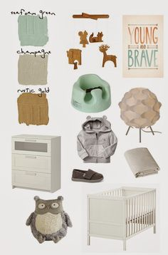 CherJoy: Woodland Creatures - baby boy's nursery {part I} mint grey orange gold white