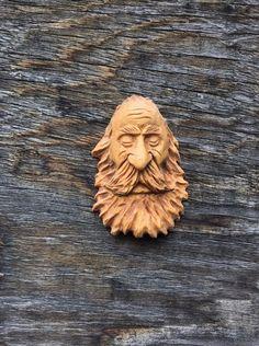 Original Carving Wizard Wood Spirit Ooak Hobbit Viking Sleeping by Scott Longpre