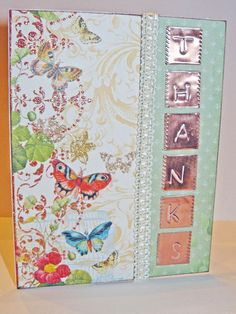 Exquisite Butterfly Thank You Cards Set of 4 by jenboothe on Etsy, $14.00