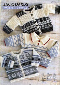 Anny Blatt Hors-serie n° 1 - 壹一 - 壹一的博客 Cardigan Bebe, Knitted Baby Cardigan, Knit Baby Sweaters, Baby Knitting Patterns, Knitting Designs, Baby Patterns, Vintage Patterns, Baby Boy Knitting, Knitting For Kids