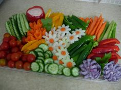 Vegetable platter with pizazz.