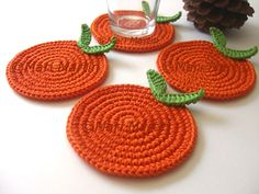 Crochet Coasters Oranges Fruit Collection ~ The most beautiful crocheted items
