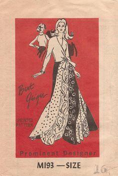 Prominent Designer M193 swirl skirt & blouses by Bert Geiger