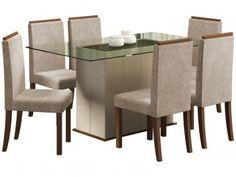 Conjunto de Mesa com 6 Cadeiras Madesa - Polônia-de R$ 2.590,00 por R$ 1.999,99   em até 10x de R$ 200,00 sem juros no cartão de crédito  ou R$ 1.899,99 à vista (5% Desc. já calculado.)