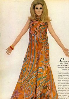 psychedelic maxi dress
