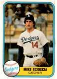 Mike Scioscia, Los Angeles Dodgers (1981 Topps baseball card)