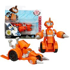 Hasbro Year 2014 Transformers Robots in Disguise Animation Series One Step Changer 5 Inch Tall Robot Action Figure - Autobot FIXIT (Vehicle Mode: Drill Car)