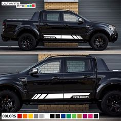 Decal Graphic Vinyl Side Stripe Kit For Ford Ranger T6 Flare Headlight Cover PX2 #ultimateprocy1ulti10deca15