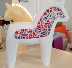 Raising money for Winstons Wish and Make a Wish charities this Christmas. One of four beautiful Dala horses which are being auctioned. Raising Money For Charity, Make A Wish, Local Artists, How To Raise Money, Auction, Horses, Gallery, Christmas, Beautiful