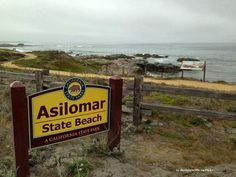 The main sign at Asilomar State Beach, Pacific Grove, Monterey Peninsula