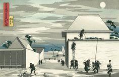 歌川国芳「忠臣蔵十一段目 夜討之図」:浮世絵のアダチ版画