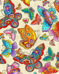 new Laurel Burch fabric