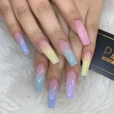 casual acrylic nail art designs ideas to fascinate your admirers 10 ~ produc. Cute Acrylic Nail Designs, Best Acrylic Nails, Summer Acrylic Nails, Acrylic Nail Art, Coffin Acrylic Nails Long, Coffin Nails, Fabulous Nails, Perfect Nails, Gorgeous Nails