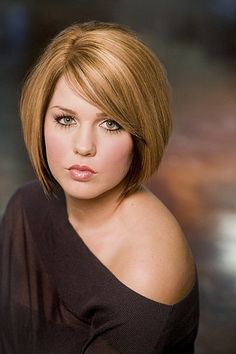 Hair style for plus size women. I really like this one.