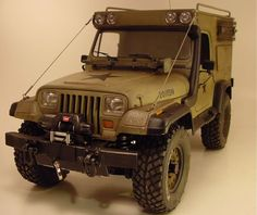 Jeep Wrangler expedition project - Tamiya model based mod.
