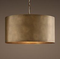 The Fabulous Barrel Pendant Light Restoration Hardware Antiqued Metal Drum Pendant Vintage Brass is one of the pictures that are related to the picture bef Dining Light Fixtures, Farmhouse Light Fixtures, Farmhouse Lighting, Dining Room Lighting, Drum Light Fixture, Kitchen Lighting, Drum Lighting, Large Pendant Lighting, Bedside Lighting