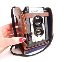 Argus Argoflex Seventy-Five - Mid Century Box Camera with Brown Case / Retro Photography. $30.00, via Etsy.