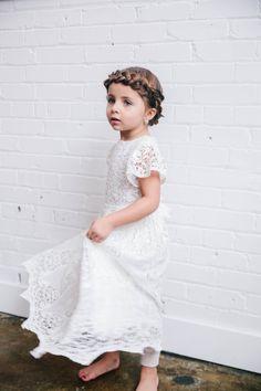 Girls Flower Girl Dress The Grace Collection by BabyBeauandBelle