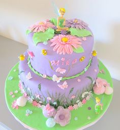 Tinkerbell cake inspired by  Keeley cakes.............TINK! GREAT EASTER OR SPRING CAKE