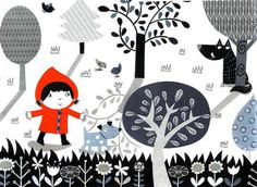 Little Red Riding Hood / Le petit Chaperon Rouge - by Maria Maddocks