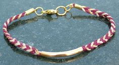 Simple chevron design makes for a pretty bracelet.  New from T J by D!