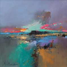 Echoes of Dawn Peter Wileman Landscape Artwork, Abstract Landscape Painting, Seascape Paintings, Abstract Art, Peter Wileman, Pastel Art, Abstract Expressionism, Painting & Drawing, Amazing Art