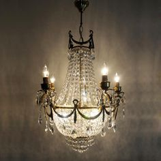 Biedermeier Light Delux Antik Alte Kronleuchter Luster
