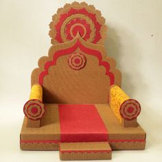 Eco friendly ganapati makhar is part of Ganapati decoration - Eco Friendly Ganpati Decoration, Ganpati Decoration At Home, Mandir Decoration, Ganapati Decoration, Diwali Diy, Diwali Craft, Diy Diwali Decorations, Festival Decorations, Diy Home Crafts