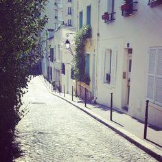 an empty street - a luxury in paris.