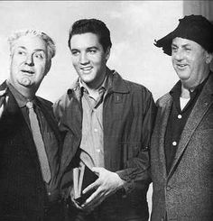 """Inside """"Wild in the Country - 1960 - Smiley Burnett ,Elvis and Colonel Parker."""