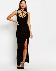 Image 1 ofClub L Harness Detailed Maxi Dress