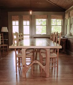 Paul Fuelling Woodworking: weathered oak dining table