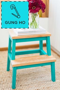 Washi Tape Stool by Fellow Fellow  Chances are you have an ugly, but necessary kitchen step stool.