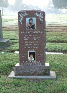 Sugar Ray Robinson~Inglewood Park Cemetery, Inglewood, Ca