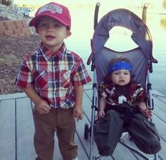 Forrest Gump and Lieutenant Dan, The Early Years...  Looks like I found Gavin and Isaac's Halloween costumes