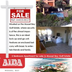 Situated on the Mossel Bay Golf Estate, where security is of the utmost importance, this is an ideal lock-up-and-go unit. Features an enclosed balcony with braai, to entertain friends and family. WEB REF: 1 Bedroom House, One Bedroom Flat, Duplex For Sale, Apartments For Sale, Bay Point, Golf Estate, Relaxing Holidays, Big Family, Family Web