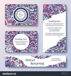 Templates Of Corporate Identity Set With Doodles Abstract Ornament. Vector Illustration Backgrounds Concepts. Decorative Retro Greeting Card Or Invitation Design Elements. - 280207670 : Shutterstock