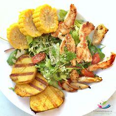 Farmářský salát s kuřecím masem Goodies, Meat, Chicken, Healthy, Sweet Like Candy, Gummi Candy, Health, Cubs, Sweets