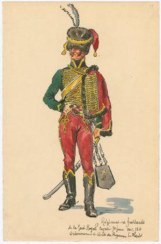 Naples; Royal Guard, Hussars, Hussar, Grande Tenue, 1813