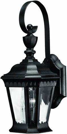 "0-014994>16""""h Camelot 1-Light Outdoor Wall Lantern Black"