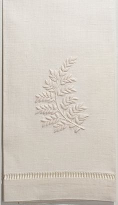 Leaves<br>Towel - Ivory Linen