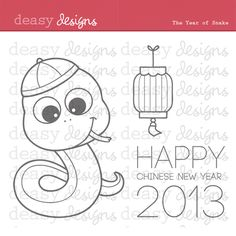 The Year of Snake will be fit for 2013 Chinese New Year.  This set is perfect for creating greeting cards, invitations, scrapbooks   and  anything else you can imagine. Color them and you will have fun!