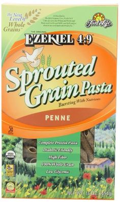 Food For Life Ezekiel 4:9 Organic Sprouted Grain Pasta, Penne, 16-Ounce Boxes (Pack of 6) * You can get additional details at the image link.