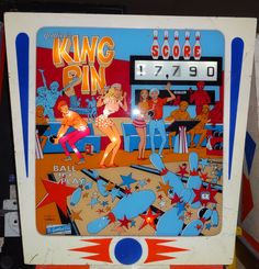 King Pin, 1973 Pinball Wizard, Penny Arcade, King Pin, Arcade Machine, Old Coins, Wizards, Arcade Games, Unique Art, Vintage Toys