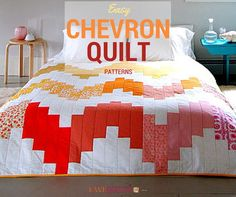 20+ Easy Chevron Quilt Patterns | Our readers can't get enough of these cute chevron quilts!