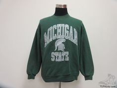 Vtg 90s Russell Michigan State Spartans Crewneck Sweatshirt sz XL Extra Large #Russell #MichiganStateSpartans #tcpkickz